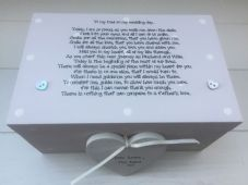 Shabby Personalised Chic Father Of The Bride Wedding Gift LARGE Trinket Box Dad - 232211302760